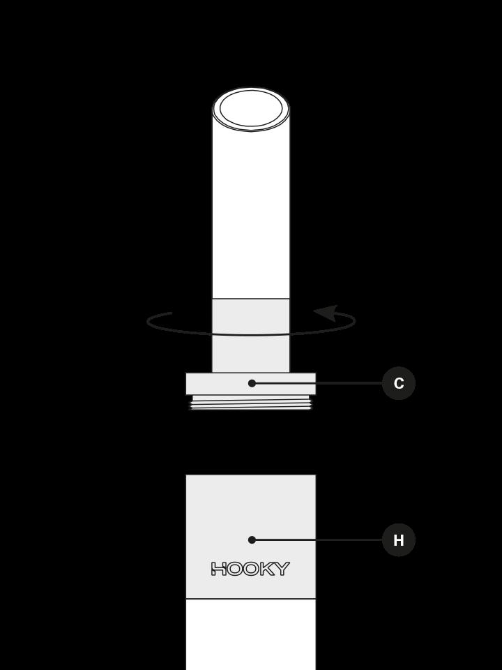 Dévisser le capuchon de la chicha électronique